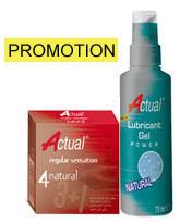 Promocion Actual 4 unidades y Gel lubricante